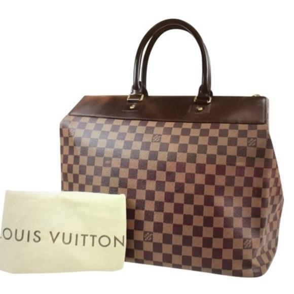 Louis Vuitton Handbags - Greenwich Damier Ebene Leather   Canvas Travel Bag 86f2e1814e027